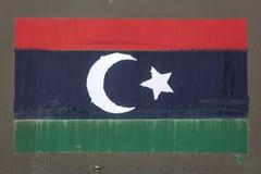 Libysche Flagge auf Rumpf lizenzfreies stockbild