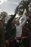 Libyscher Botschaft-Protest lizenzfreie stockfotos