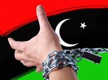 libysk opposition royaltyfri bild