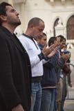 libysk protest för ambassad arkivfoton