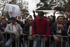 libysk protest för ambassad fotografering för bildbyråer
