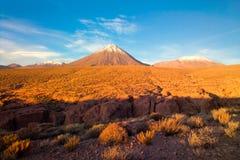 Licancabur Volcano. At the Altiplano, San Pedro de Atacama, Atcama Desert, Chile, South America Royalty Free Stock Photography