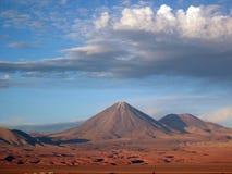 Licancabur Volcano. Valle de la Muerte and Licancabur Volcano - San Pedro de Atacama, Chile Stock Image