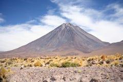 Licancabur volcano. Border Bolivia and Chile Stock Photos