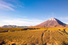 Licancabur Volcano at the Altiplano Stock Images