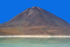 Licancabur Volcano and Laguna Verde, Bolivian Ande Stock Image