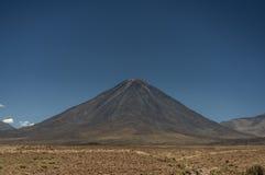 Licancabur volcano 5,916 meters. Licancabur volcano in the Atacama Desert, northern Chile Royalty Free Stock Photography