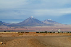 Licancabur volcano in San Pedro de Atacama, Chile stock photo