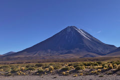 Licancabur Volcano. On the southernmost part of the border between Chile and Bolivia Royalty Free Stock Photo
