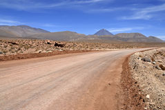 Licancabur volcano and volcanic landscape of the Atacama Desert Royalty Free Stock Photos