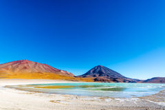Licancabur Volcano Wide Angle Royalty Free Stock Images