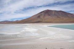 Licancabur vulkan i den Atacama öknen, Bolivia Arkivfoto