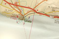 Licata Остров Сицилии, Италии Стоковое Изображение RF