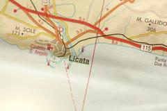 Licata Die Insel von Sizilien, Italien Lizenzfreies Stockbild