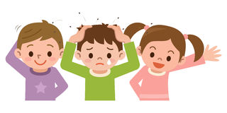 Lice and children Stock Photography