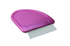 Lice comb. For removal of head lice in hair Royalty Free Stock Photo