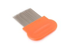 Lice comb. Isolated on a white background Royalty Free Stock Image
