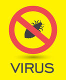 Lice Virus Symbol Royalty Free Stock Photography
