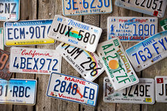 Licence Plates Stock Photography