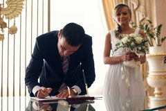 Licencia de boda Imagenes de archivo