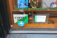 Licencia de la cafetería foto de archivo