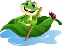 Licencia de la paleta de la rana de la historieta Imagen de archivo