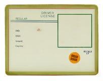 Licencia de programas pilotos vieja de la vendimia imagen de archivo libre de regalías