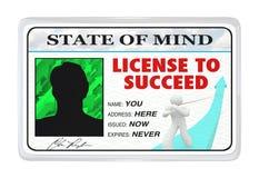 Licencia de tener éxito el permiso para la vida acertada Fotografía de archivo libre de regalías