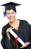 Licenciado de escuela con el diploma imagen de archivo