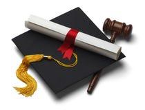 Licenciatura de derecho Foto de archivo libre de regalías