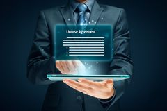 License agreement. Concept. User confirm royalty free stock images