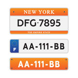 License car number plates Stock Photo