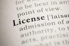 License Stock Photo
