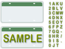 License Plate Stock Images