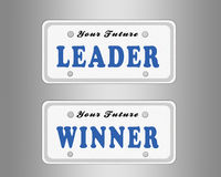 License plate. Leader and winner license plate Royalty Free Stock Photography