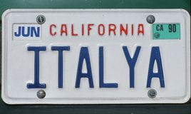 License Plate Stock Image