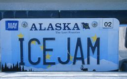 License Plate in Alaska Stock Images