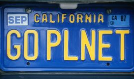 License Plate - California Stock Photos