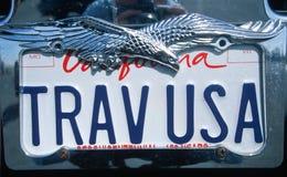 License Plate   in California Stock Image
