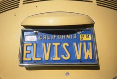 License Plate   in California Stock Image