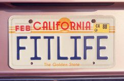 License Plate   in California Stock Photo
