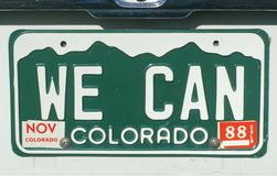 License Plate   in  Colorado Stock Image