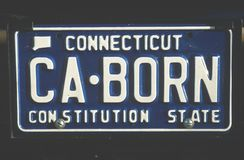 License Plate in Connecticut Royalty Free Stock Photography