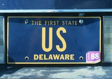 License Plate Delaware Stock Photo