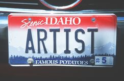 License Plate  in  Idaho Royalty Free Stock Images