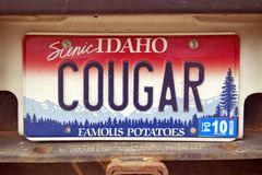 License Plate  in  Idaho Stock Photography