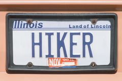 License Plate  in Illinois Royalty Free Stock Photography