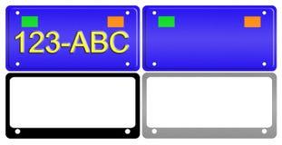 License Plate Illustration Set Stock Image