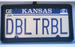 License Plate in Kansas stock image