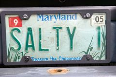 License Plate   in  Maryland Royalty Free Stock Image